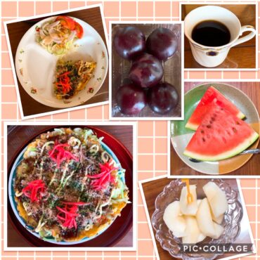 実家飯20200816朝食