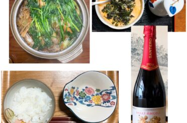 実家飯20210101昼食と夕食